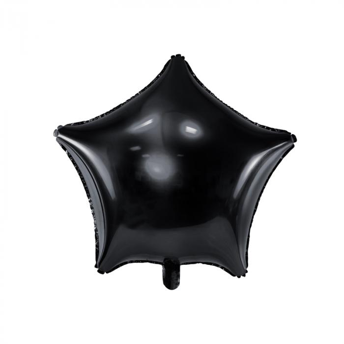 Balon Folie Stea, Negru - 48 cm 0