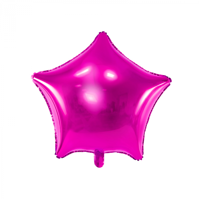 Balon Folie Stea, Roz - 48 cm 0