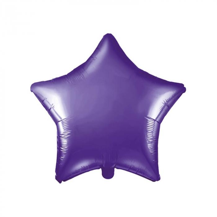 Balon Folie Stea, Violet - 48 cm 0