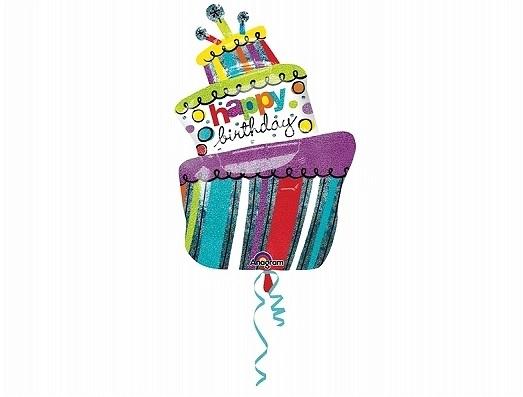 Balon Folie Tort Happy Birthday - 61x94 cm 1