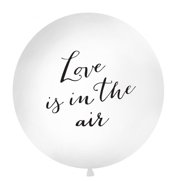 Balon Jumbo Love is in the air, Alb - 100 cm 0