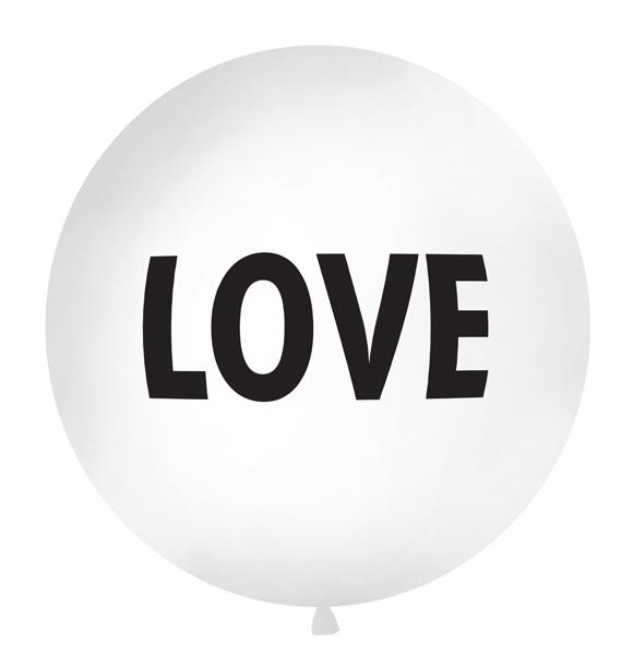 Balon Jumbo Love, Alb - 100 cm 0