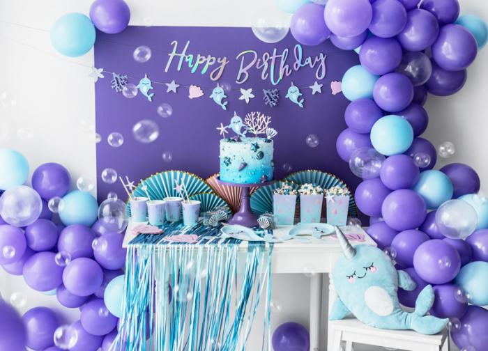 Banner Happy Birthday, Iridescent 3
