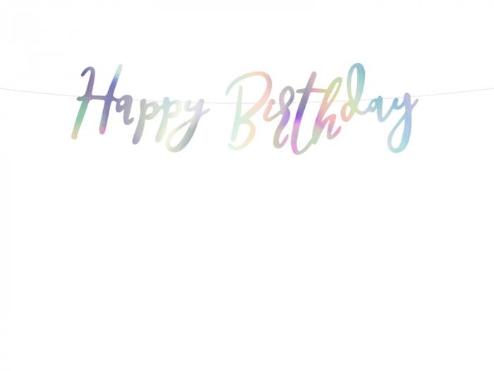 Banner Happy Birthday, Iridescent 0