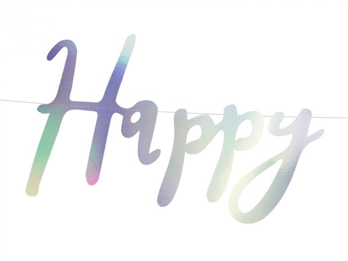 Banner Happy Birthday, Iridescent 1