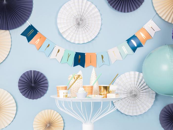 Banner Happy Birthday Mix, Albastru 2