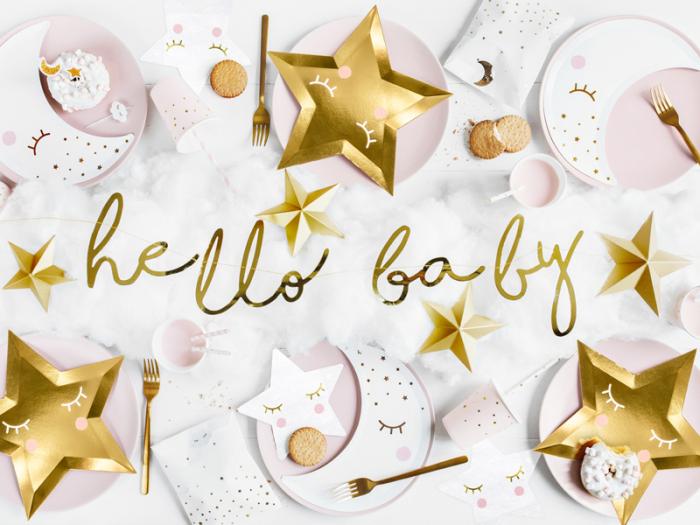 Banner Hello Baby, Auriu [1]