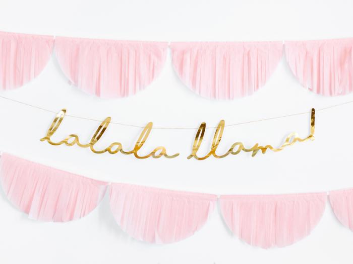 Banner Llama Party, Auriu [1]