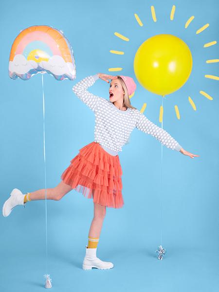 Balon Folie Curcubeu - 55x40 cm [4]