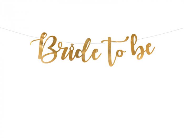 Banner Bride to Be, Auriu, 80 cm [0]