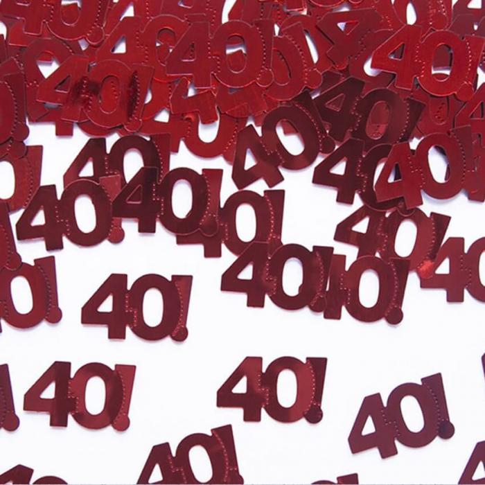 Confetti metalice 40, Rosu [0]