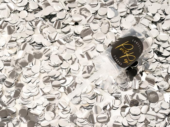 Confetti Push Pop, Argintiu 4