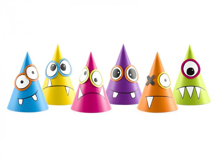 Set 6 Coifuri Monsters Multicolor [0]