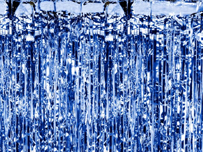 Perdea Decorativa, Albastru -  90x250 cm 0