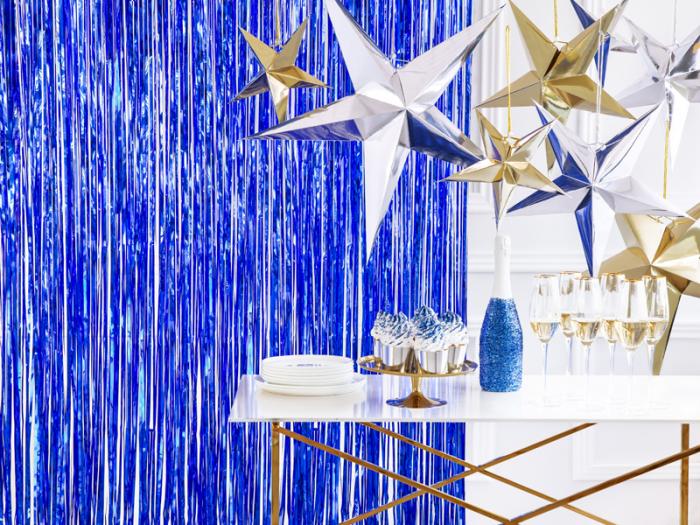 Perdea Decorativa, Albastru -  90x250 cm 1