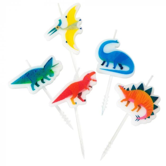 Set 5 Lumanari Party Dinosaur 0