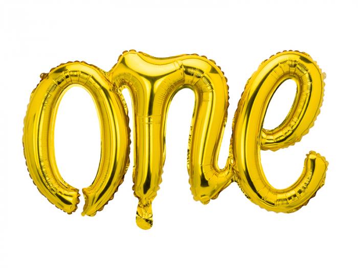 Balon Folie One, Auriu - 66x37 cm [0]
