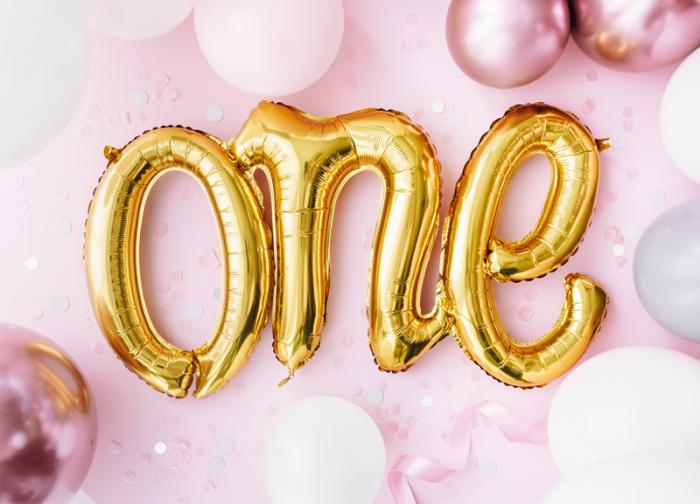 Balon Folie One, Auriu - 66x37 cm [3]