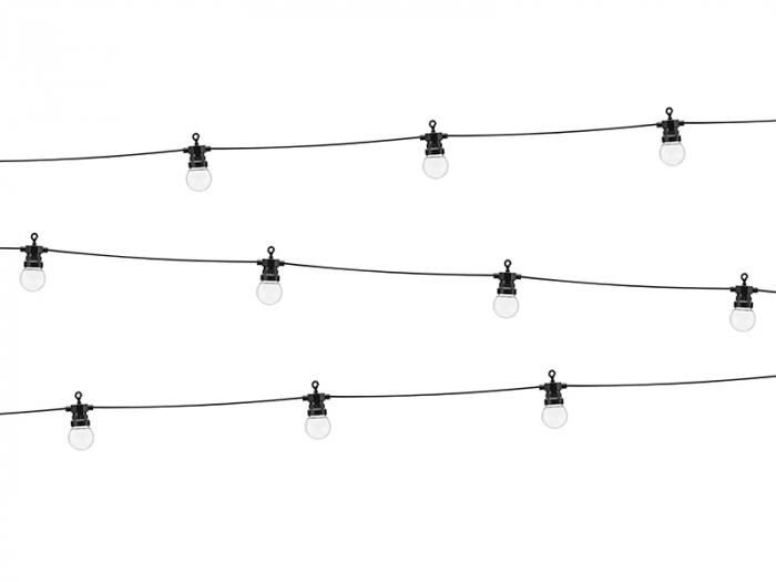 Ghirlanda Luminoasa Led, 5+3 M, Interconectabila, Negru, 10 becuri 0