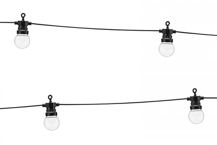 Ghirlanda Luminoasa Led, 5+3 M, Interconectabila, Negru, 10 becuri 1