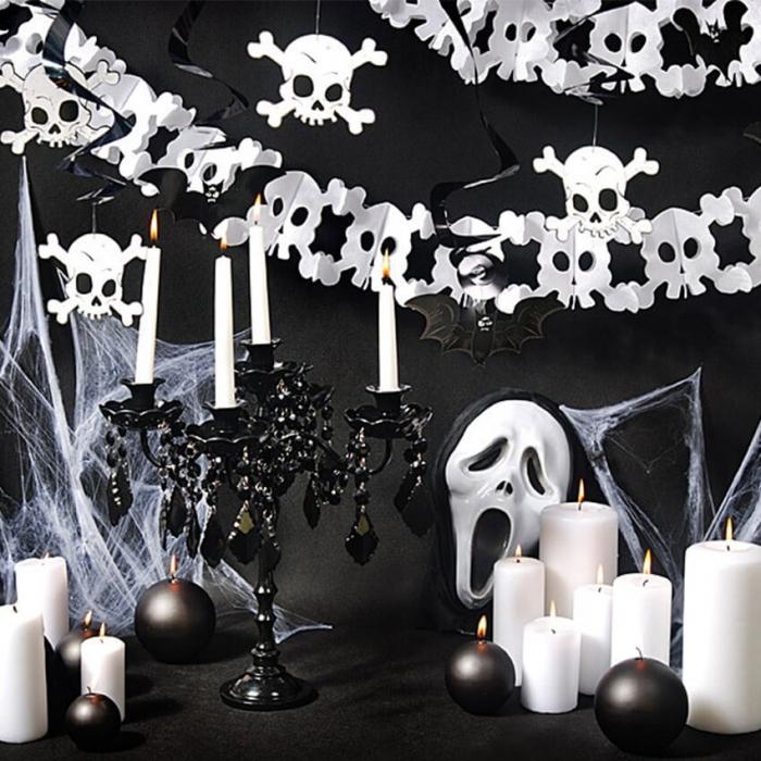 Ghirlande Halloween, lilieci si cranii [1]