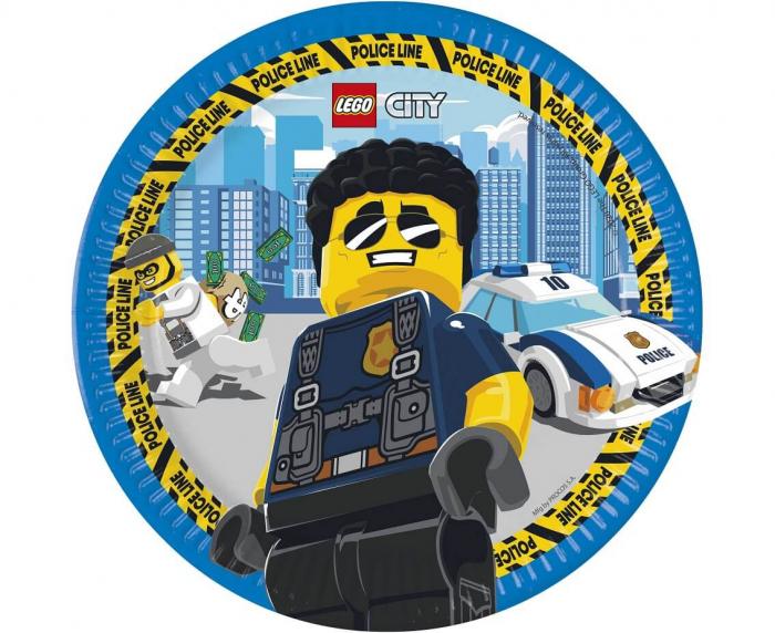 Set 8 Farfurii Lego City, 23 cm [0]