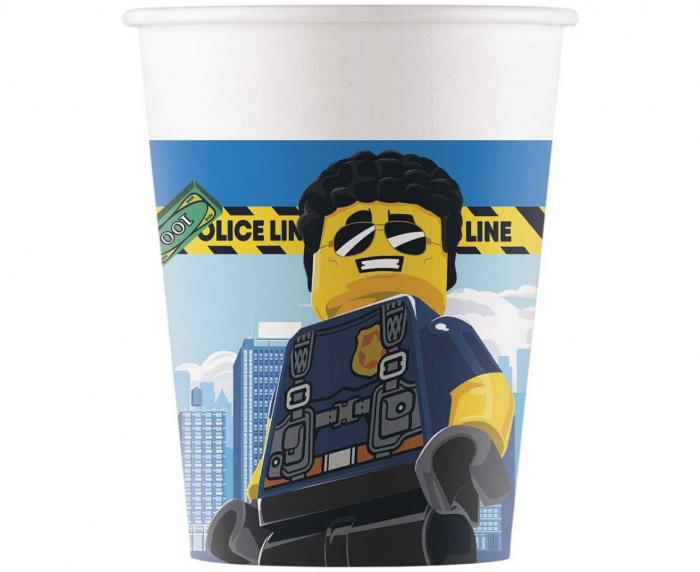 Set 8 Pahare Lego City, 200 ml [0]