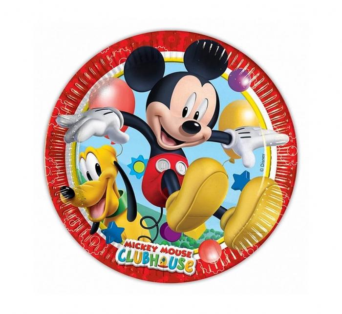Set 8 Farfurii Mickey Mouse, 20 cm [0]