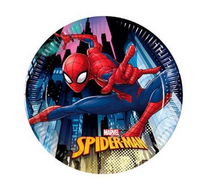 Set 8 Farfurii Spiderman, 20 cm [0]