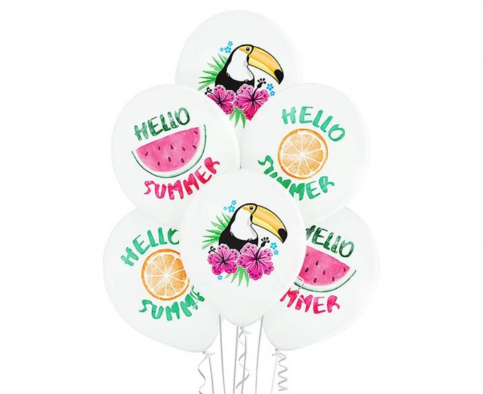 Set 6 Baloane Hello Summer - 30 cm [0]
