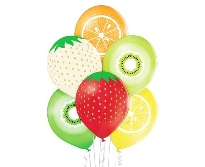 Set 6 Baloane Fructe - 30 cm [0]