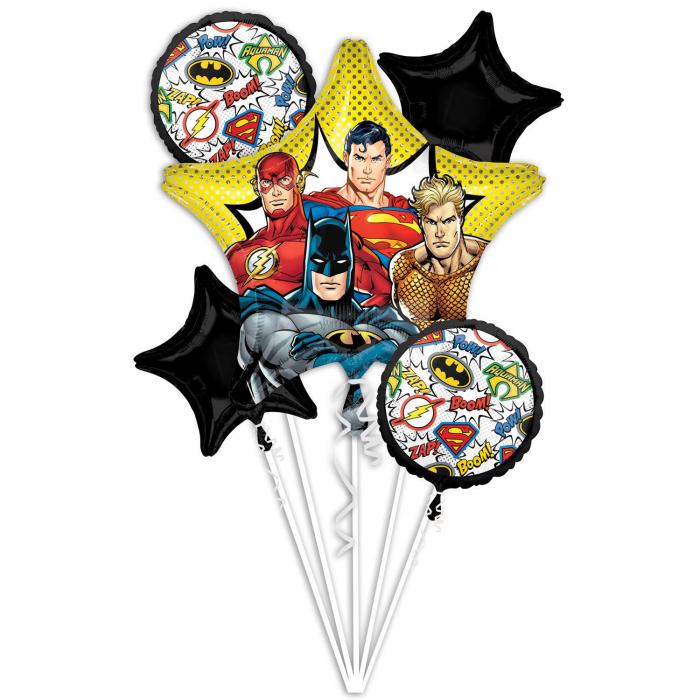 Buchet 5 Baloane Folie Justice League [0]