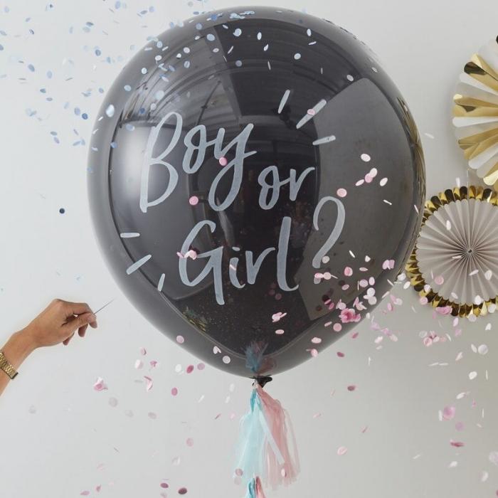 Balon cu Confetti Gender Reveal Boy or Girl, 90 cm [2]