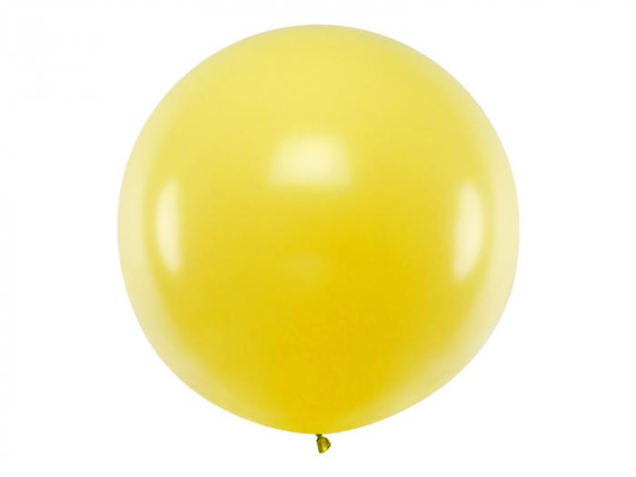 Balon Jumbo Galben Pastel - 100 cm [0]