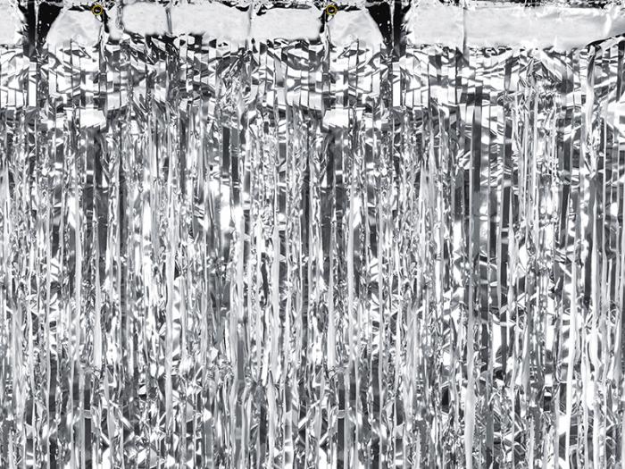 Perdea decorativa, argintiu, 90x250 cm 0