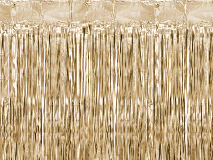 Perdea decorativa, auriu, 90x250 cm [0]