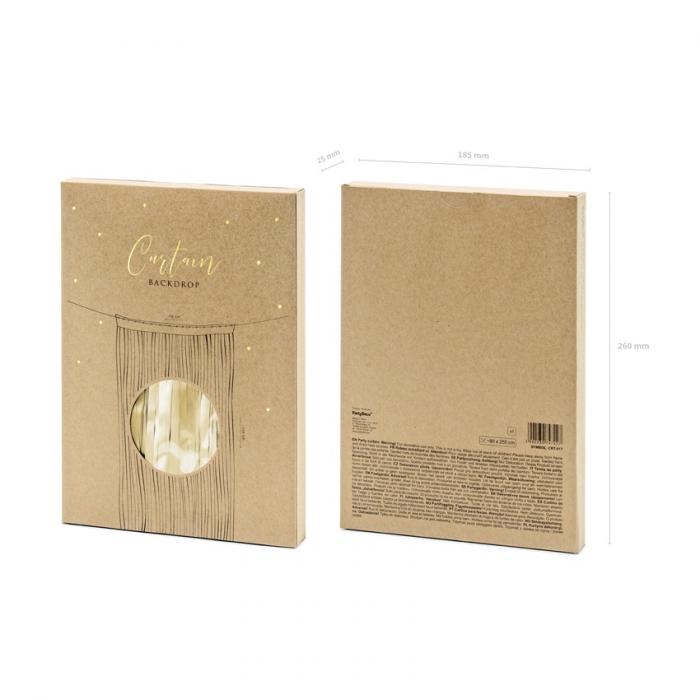 Perdea decorativa, auriu, 90x250 cm [3]