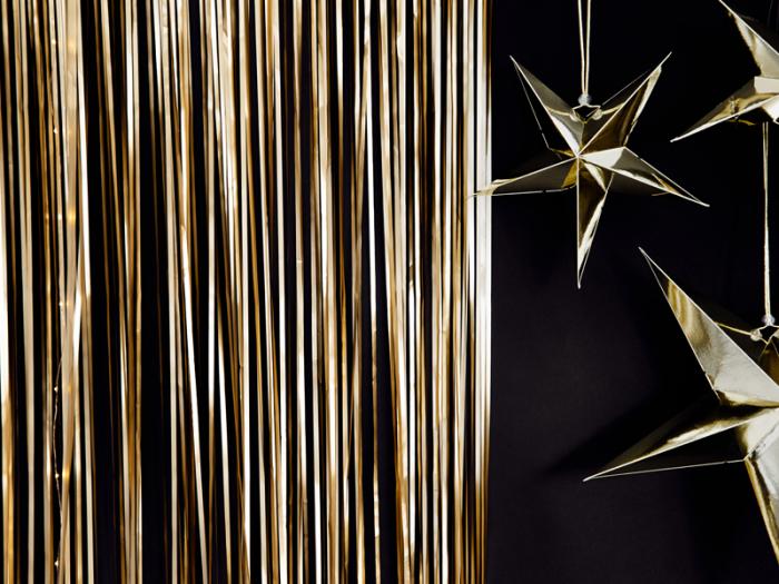 Perdea decorativa, auriu, 90x250 cm [1]