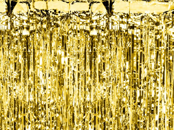 Perdea decorativa, auriu, 90x250 cm 0