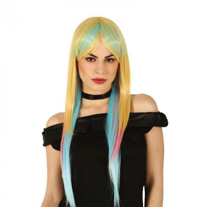 Peruca Blonda cu Suvite Colorate - Deluxe [0]