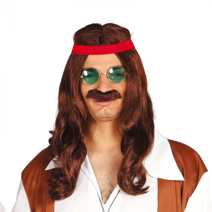 Peruca Hippie cu Mustata 0