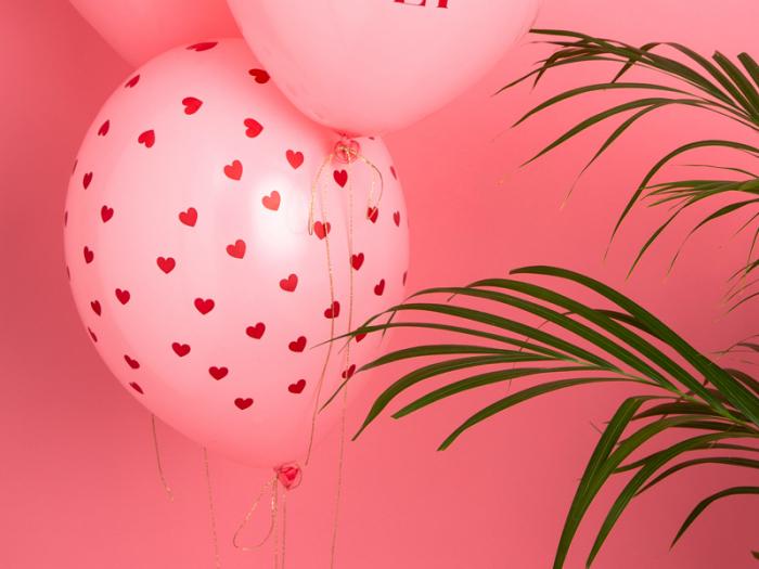 Set 6 Baloane Inima, Pastel - 30 cm 1
