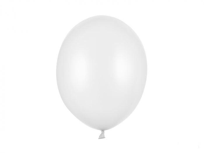 Set 10 Baloane Alb Metalizat - 30 cm [0]