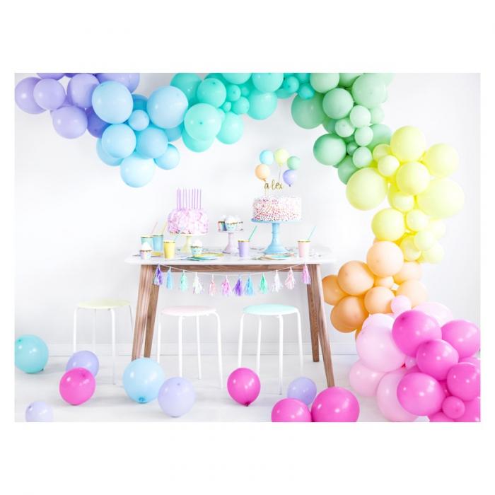 Set 10 Baloane Roz Pastel - 27 cm 2