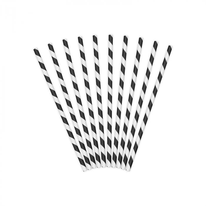 Set 10 Paie Spirala, Negru 0