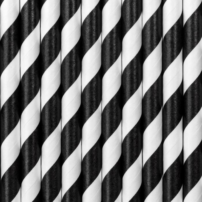 Set 10 Paie Spirala, Negru 1