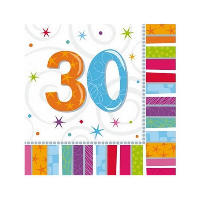 Set 16 Servetele aniversare 30 ani 0