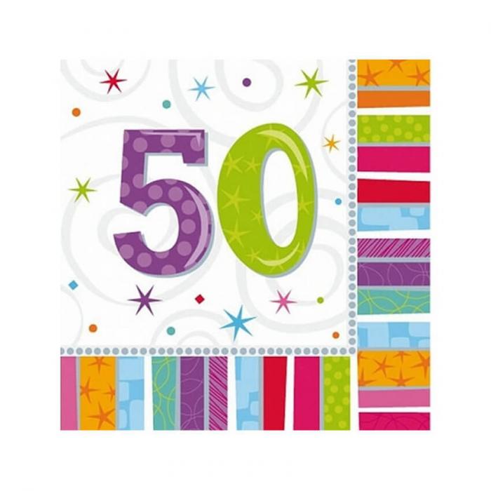 Set 16 Servetele aniversare 50 ani 0