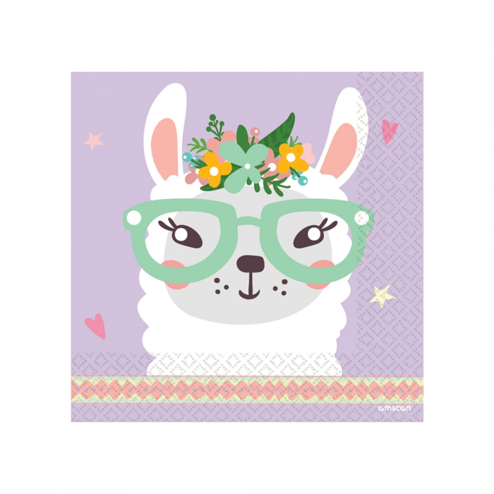 Set 16 Servetele Llama 0