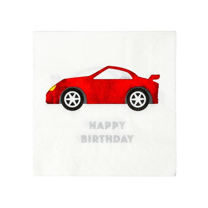 Set 16 Servetele Happy Birthday Party Racer 0
